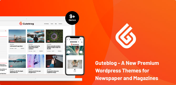 Guteblog - A New Premium Wordpress Theme for Newspaper and Magazines