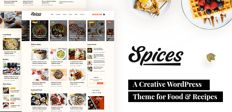 Spices – A Creative WordPress Theme for Food and Recipes