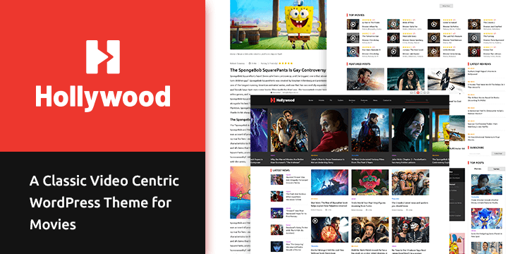 Hollywood – A Classic Video Centric WordPress Theme for Movies