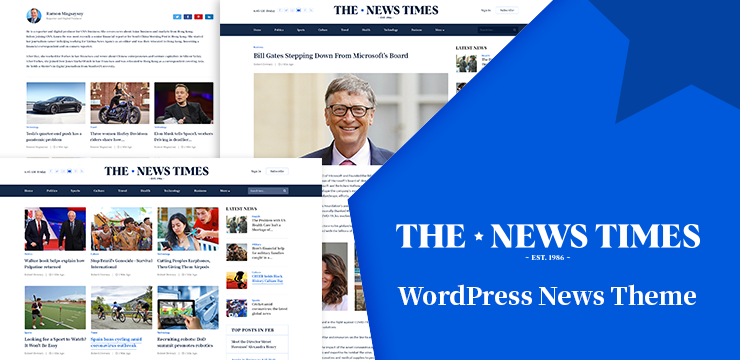 The News Times: WordPress News Theme